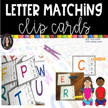 Alphabet Clip Cards * Letter Matching Center