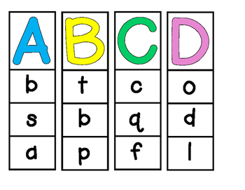 Alphabet Clip Cards - Capital to Lowercase