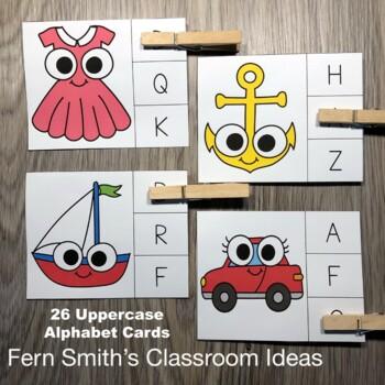 Alphabet Clip Cards Literacy Center