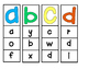 Alphabet Clip Cards - Lowercase Letters
