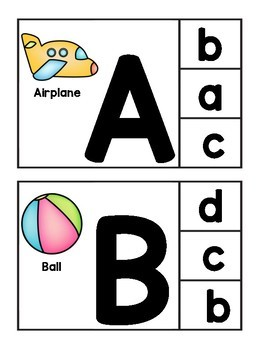 Alphabet Clip Cards Match Upper with Lowercase