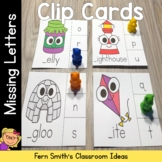 Alphabet Clip Cards Missing Letters Literacy Center