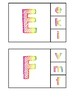 Alphabet Clip Cards Rainbow Scribble