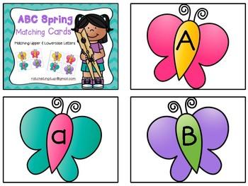 Alphabet Clip Cards - Spring Version