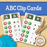 Alphabet Clip Cards Upper and Lower Case Letter Recognition - Ocean Theme