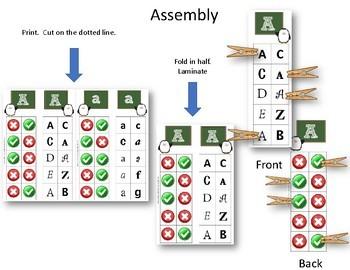 Alphabet Clip Cards Upper and Lower Case Recognition - Penguins