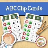 Alphabet Clip Cards Upper and Lower Case Letter Recognition - Space Theme