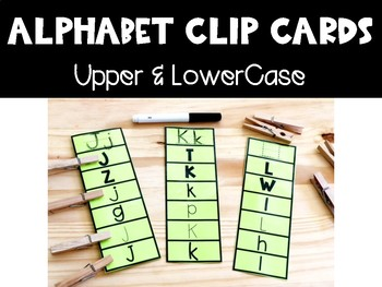 Alphabet Clip Cards: Upper and Lowercase