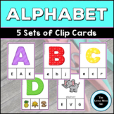 Alphabet Clip Cards – Uppercase, Lowercase, Letter Sounds,