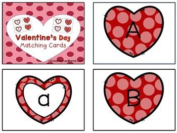 Alphabet Clip Cards - Valentine's Day Version