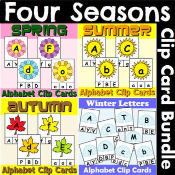Alphabet Clip Card Bundle for All Four Seasons