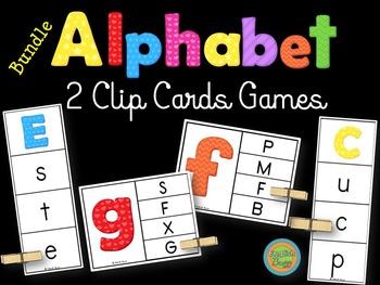 Alphabet - Clip Cards game - Bundle