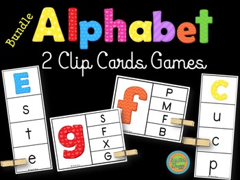 Alphabet - Clip Cards game - Bundle