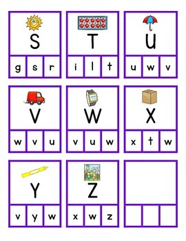 Alphabet Clip Game