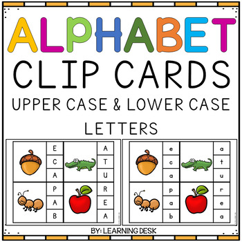 Enjoyable Alphabet Letter Clip Cards Beutiful Home Inspiration Xortanetmahrainfo
