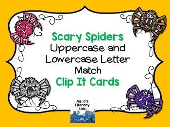 Alphabet Clip It (Spiders)
