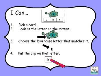 Mitten Clip Cards (Alphabet)