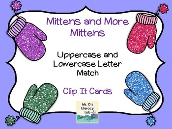 Alphabet Clip It Cards (Mittens)