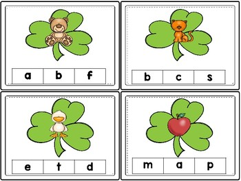 Alphabet Clip it Cards  (St. Patrick's Day )