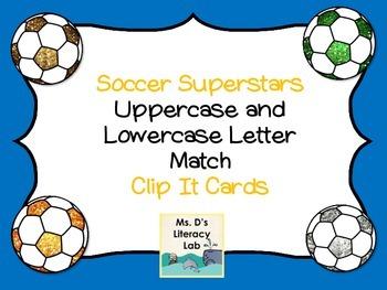 Soccer Clip Cards (Alphabet--free)