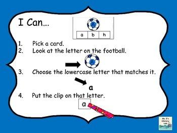 Alphabet Clip Cards (Soccer)