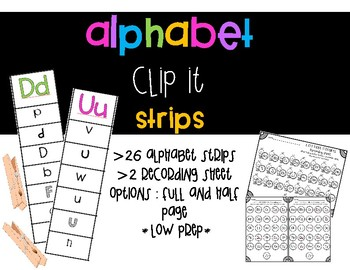 Alphabet Clip It Strips
