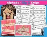 Alphabet Clip It Strips (Letter Sounds and Letter Discrimination Centers)