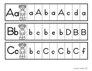 Alphabet Clip It Strips (Letter Sounds and Letter Discrimination Centers)