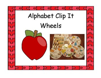 Alphabet Clip It Wheels