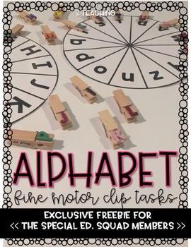 Alphabet Clip Wheels- Fine Motor Special Education Worktasks