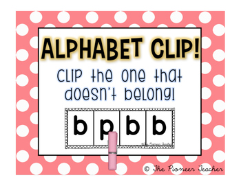 Alphabet Clip {Which Doesn't Belong?}