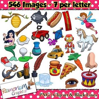 Alphabet Clip art Bundle