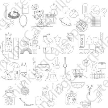 Alphabet Clip art Bundle N-Z beginning sounds
