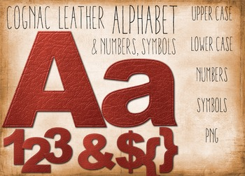 SALE- Alphabet Clip art of Leather Letters