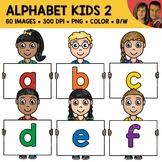 Lowercase Alphabet Kids Clipart 2
