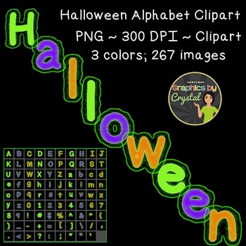 Halloween Alphabet Clipart