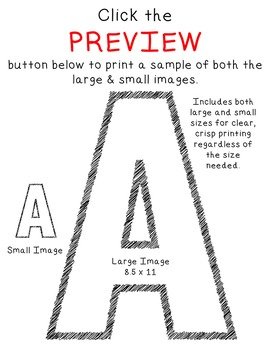 Alphabet Clipart - Scribble Line Art Bundle
