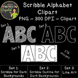 Alphabet Clipart - Scribble Line Art Bundle