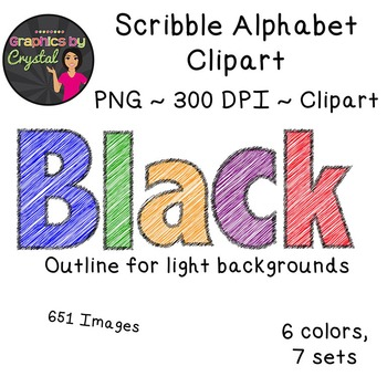 Alphabet Clipart - Scribble Bundle