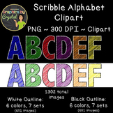 Alphabet Clipart - Scribble HUGE Bundle