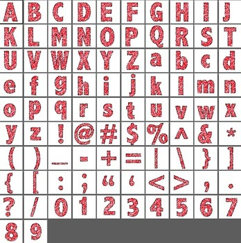 Alphabet Scribble Clipart - Red
