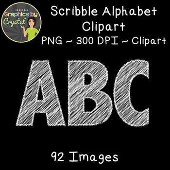 Alphabet Scribble Clipart