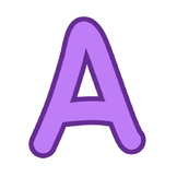 Bulletin Board Letters Alphabet Clipart - Purple with Purple Trim