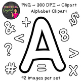 Bulletin Board Letters Alphabet Line Art Clipart Perfect for Doodle or Sketch