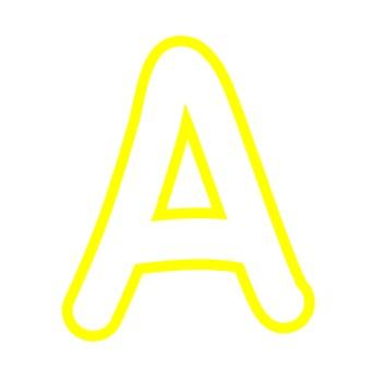 Alphabet Clipart - White with Yellow Trim