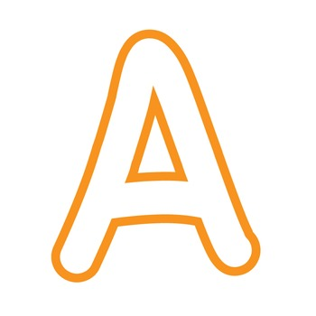 Alphabet Clipart - White with Orange Trim