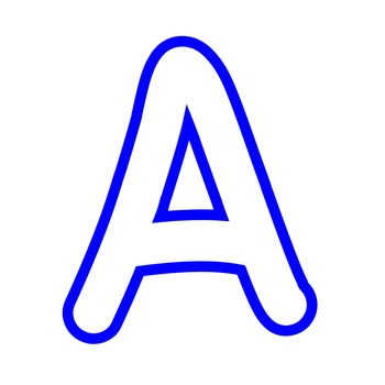 Alphabet Clipart - White with Blue Trim