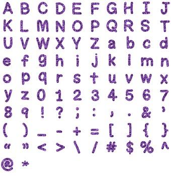 Alphabet Clipart - Purple Liquid Metal
