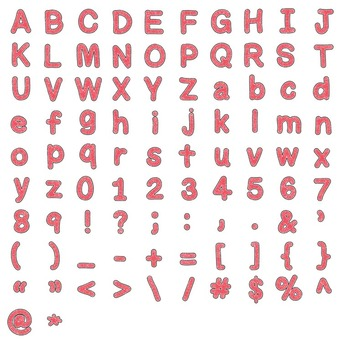Alphabet Glitter Clipart - Red