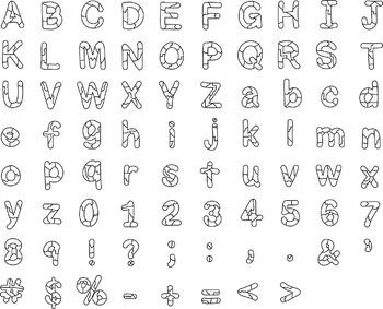 Alphabet Clipart - Broken Letters